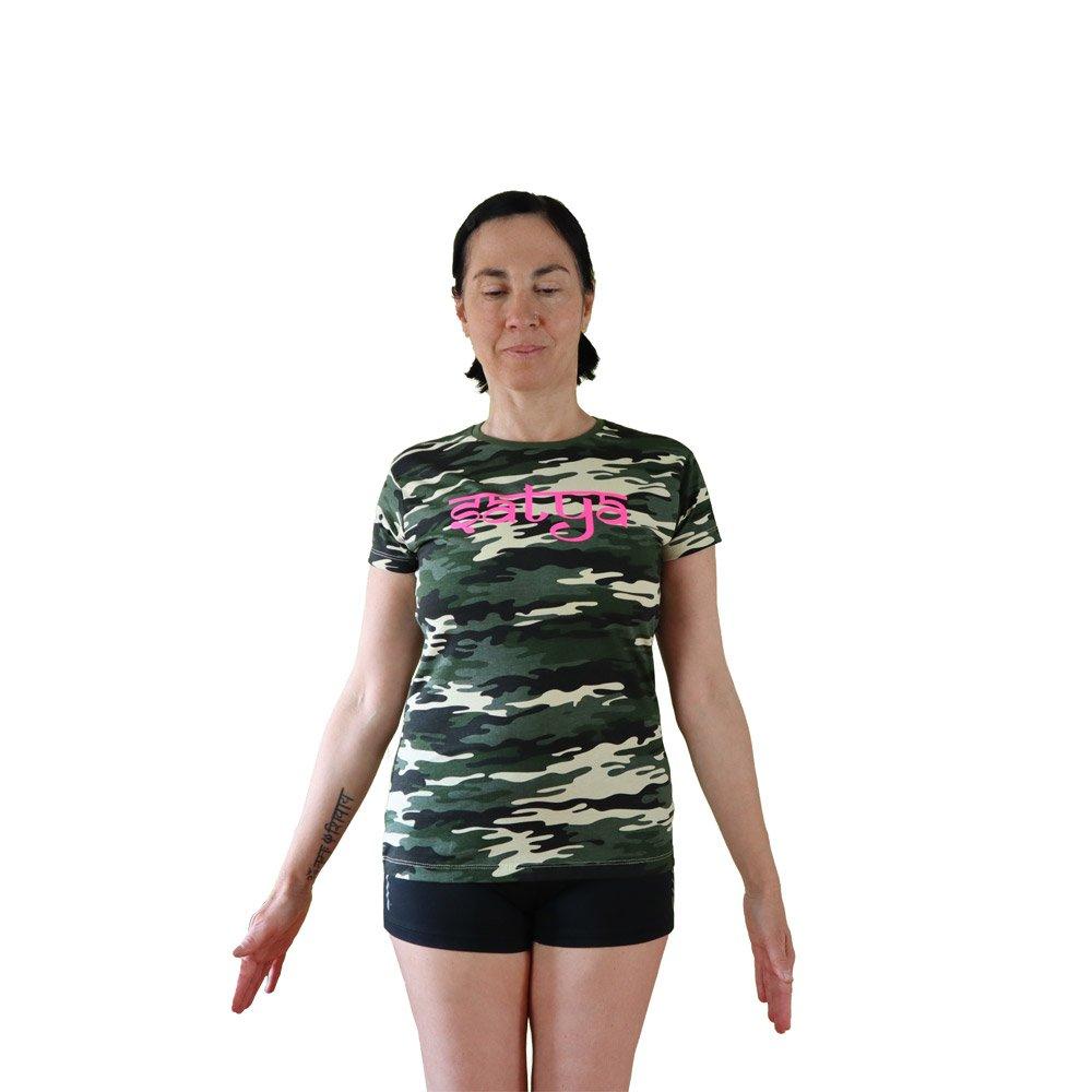 camiseta camuflado vegana manga corta satya